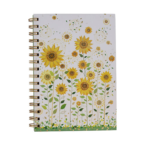 TURNOWSKY SUNFLOWER A5 SIDE SPIRAL NOTE BOOK