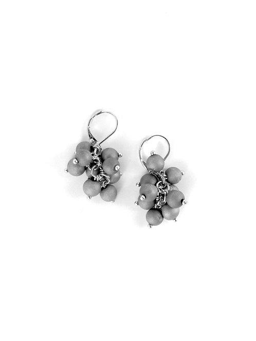 earring grape cluster silver/silver