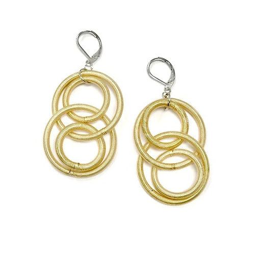 bright gold large loop earring