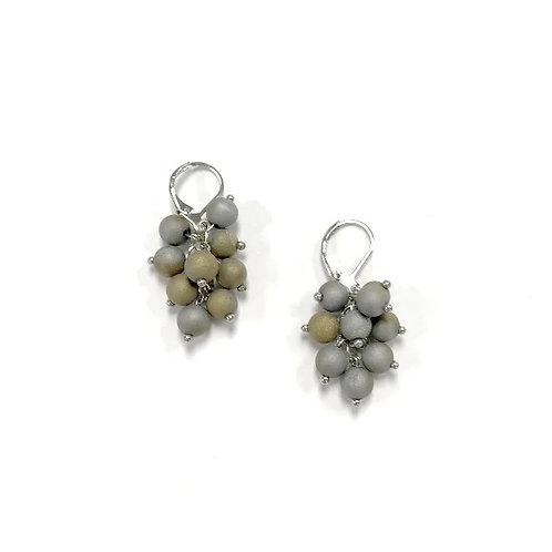 earring grape silver w-silver/gold