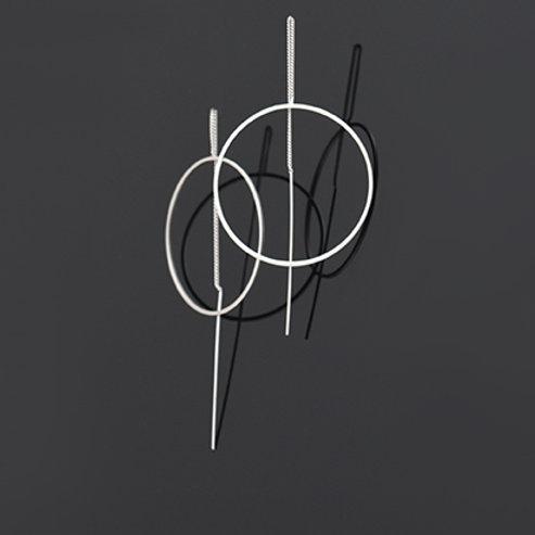 Balance Ear Drapes (Satin Silver)