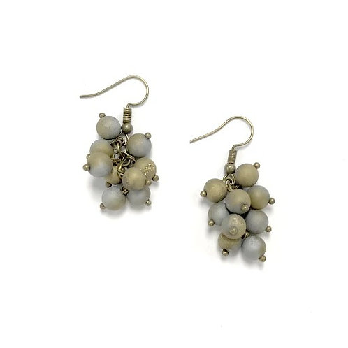 earring grape bronze/silver-gold