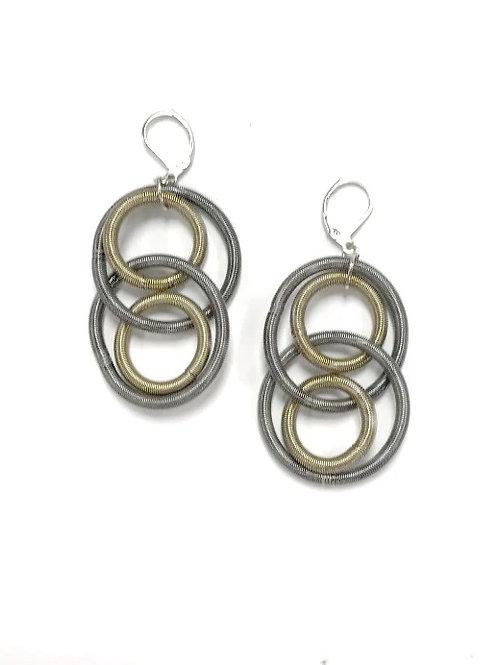 slate-bronze large loop earring