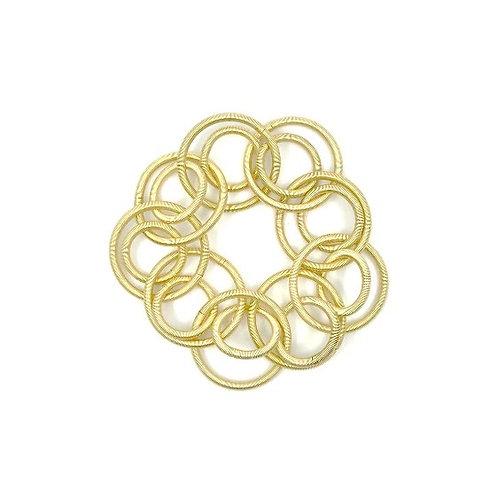 bright gold short loop bracelet