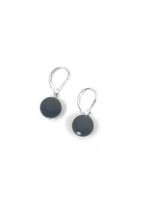 Black Rubber Earring