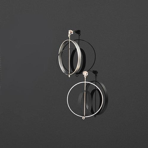 Axle Earring (Silver Black)