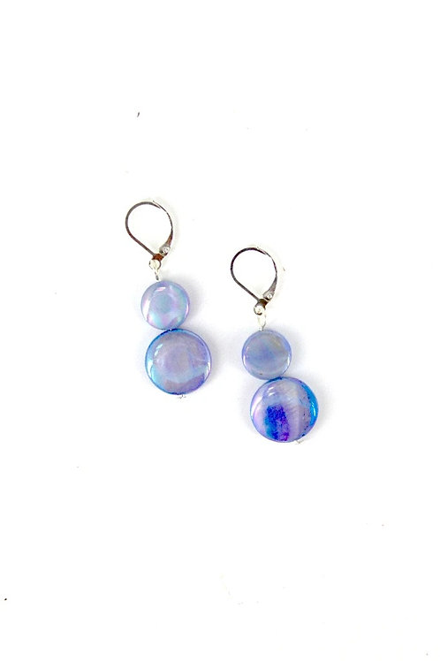 mother of pearl earring-new blue