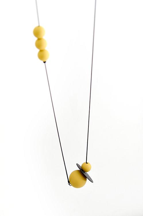 Astro Long Necklace Black Dijon