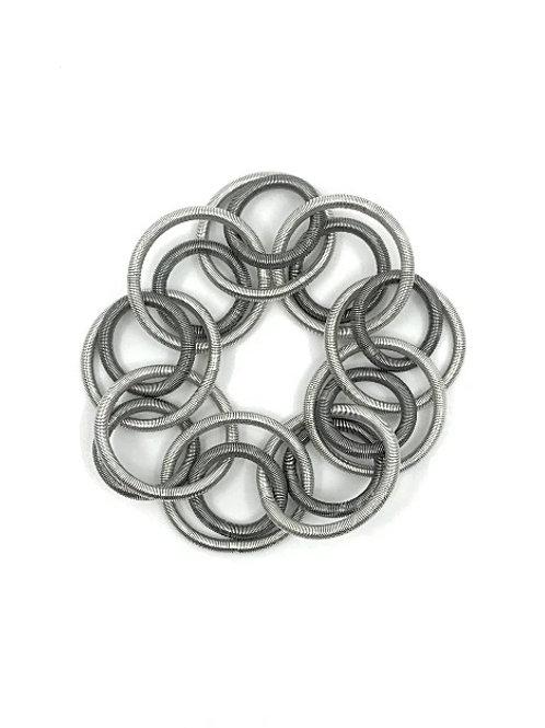 silver-slate loop bracelet