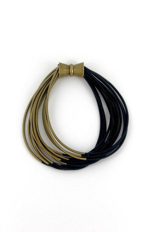 blk-brz two tone pw bracelet with magnet