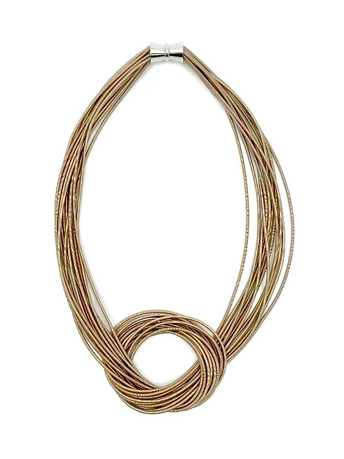champagne large knot necklace