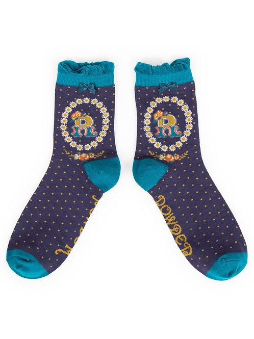 Letter R Socks