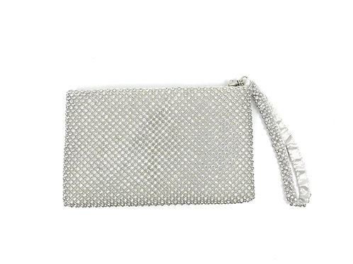 east/west clutch-silver
