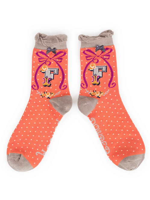 Letter F Socks