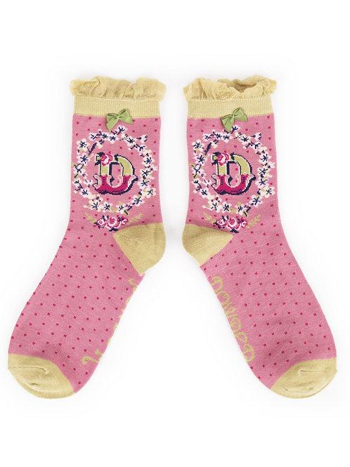 Letter D Socks