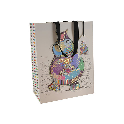 BUG ART HARRY HIPPO LGE GIFT BAG, Min Qty: 6