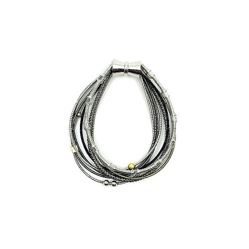 multi strand piano wire magnetic bracelet to match #611 necklace