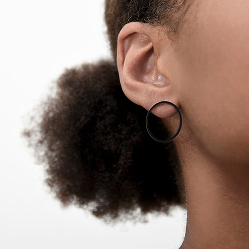 Haloes Ear Studs (Matte Black)