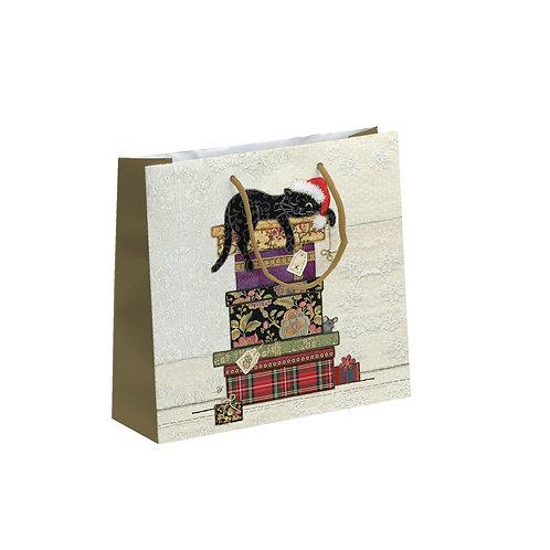 BUG ART CAT ON BOXES PERFUME GIFT BAG, Min Qty: 6