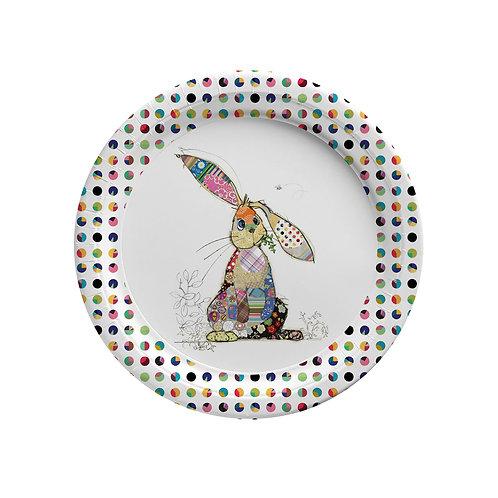 BUG ART BINKY BUNNY 8 X 7INCH BIODEGRADABLE PLATES, Min Qty: 12