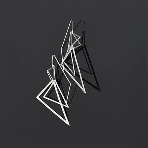 Apex Earrings (Satin Silver)