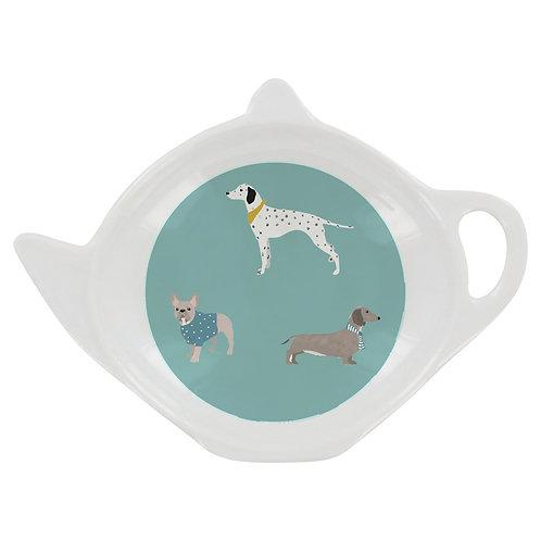 PEONY DOGS TEA BAG TIDY, Min Qty: 12