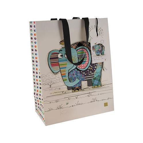 BUG ART ELEPHANT LGE GIFT BAG, Min Qty: 6
