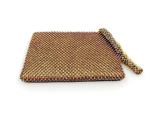 east/west clutch-gold