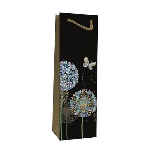 BUG ART BUTTERFLY FLOWER BOTTLE GIFT BAG, Min Qty: 6