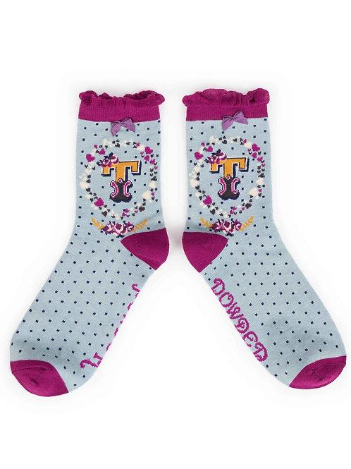 Letter T Socks