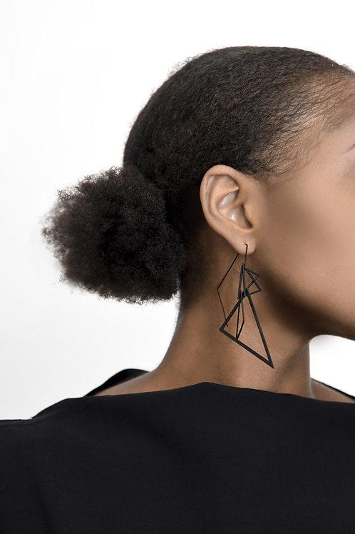 Apex Earrings (Matte Black)
