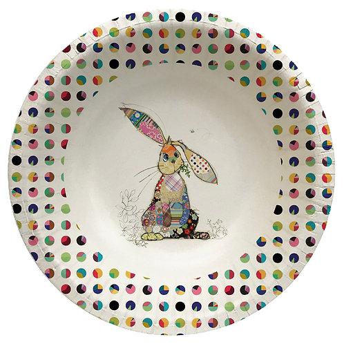 BUG ART BINKY BUNNY  8 X 6INCH BIODEGRADABLE BOWLS, Min Qty: 12