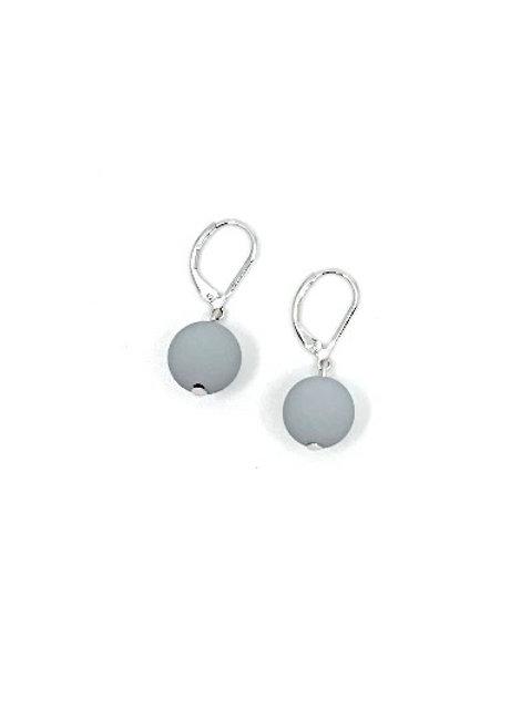 Gray Rubber Earring