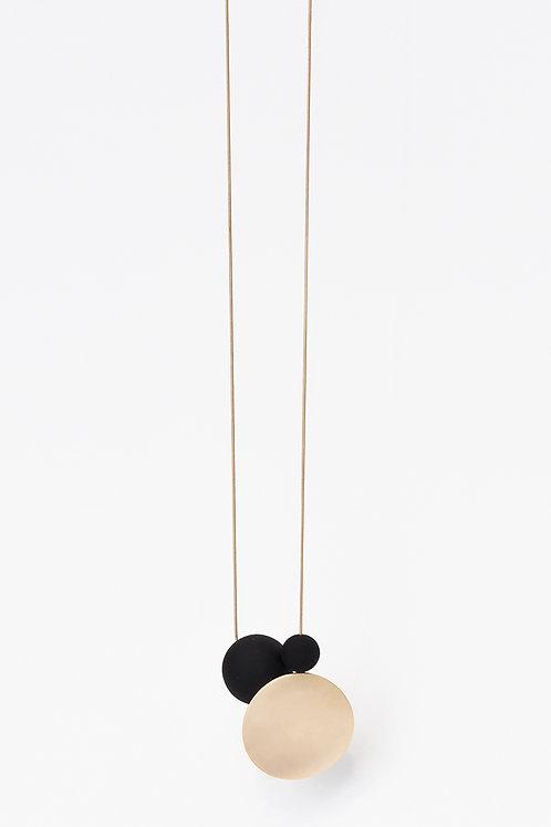 21509 GB Dot & Orbs Gold Black