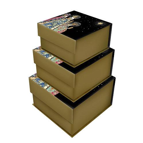 BUG ART 3 KINGS SET OF 3 SQ TAB BOXES, Min Qty: 1