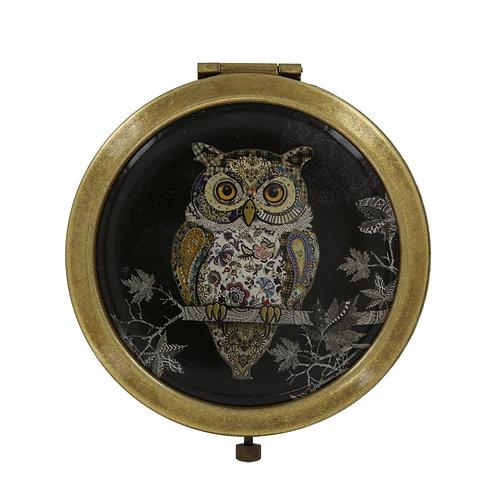BUG ART OWL COMPACT MIRROR IN BOX, Min Qty: 6