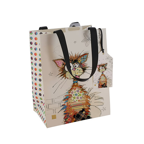 BUG ART KRAZY CAT MED GFT BAG, Min Qty: 6