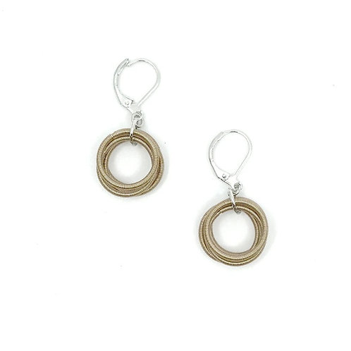 Champagne pw loop earring