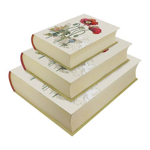 BUG ART POPPY SET OF 3 BOOK BOXES, Min Qty: 1