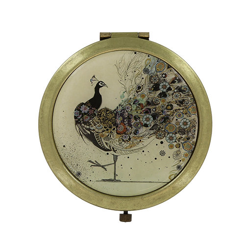 BUG ART PEACOCK COMPACT MIRROR IN BOX, Min Qty: 6