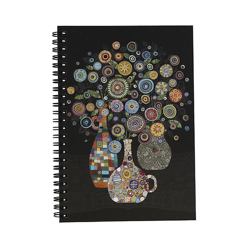 BUG ART VASE OF FLOWERS A5 NOTEBOOK, Min Qty: 6
