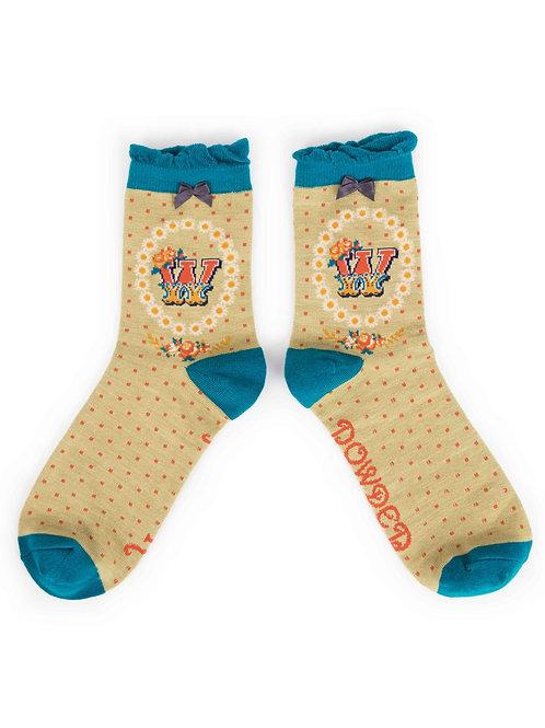 Letter W Socks