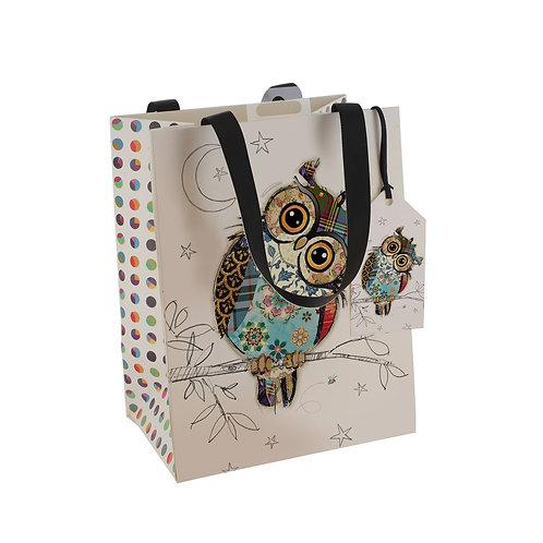 BUG ART OWL MED GFT BAG, Min Qty: 6