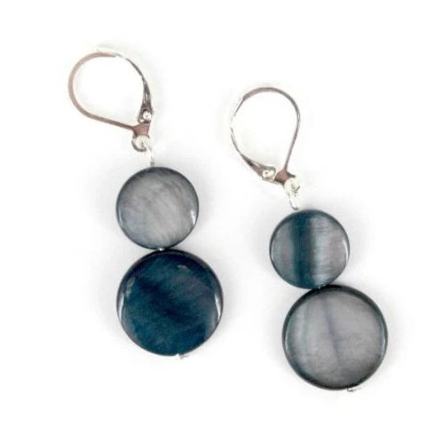 mother of pearl earring-black
