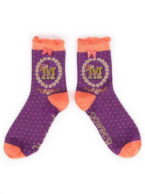 Letter M Socks