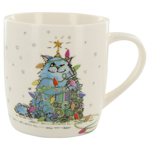 BUG ART CAT TREE EMBOSSED MUG IN BOX, Min Qty: 3
