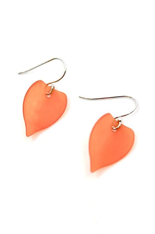 orange leaf earring