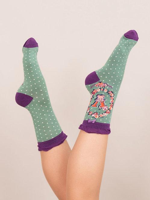 Letter V Socks