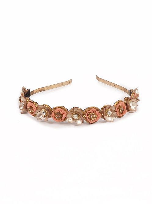 Fleur - Coral (slim metal floral)