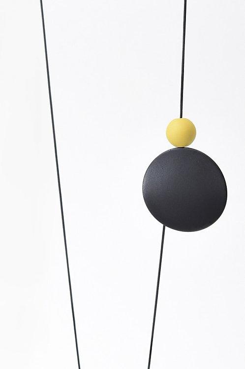 21509 BD Dot & Orbs Black Dijon